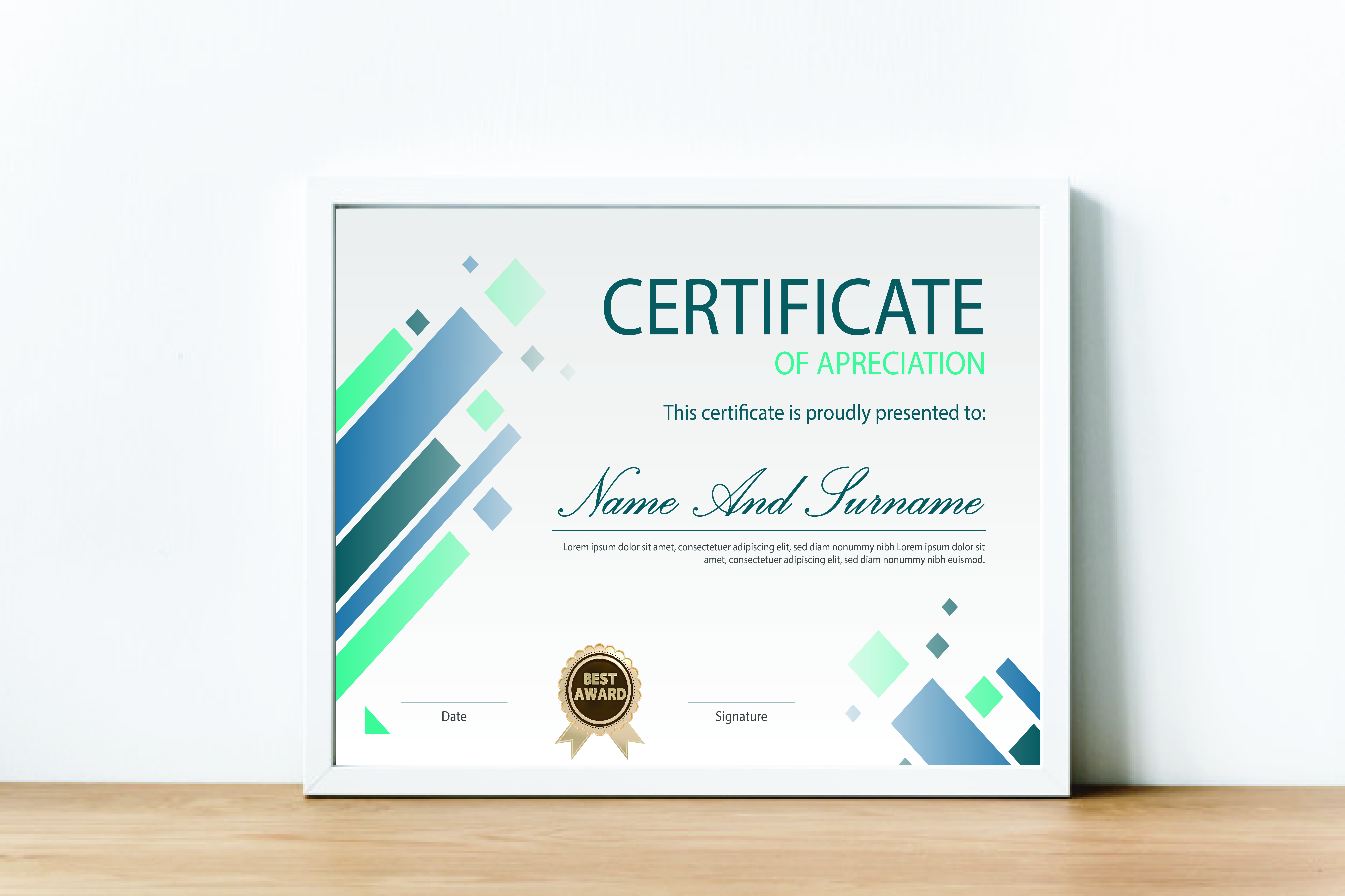 I will do professional certificate diploma certificate award and gift certificate design