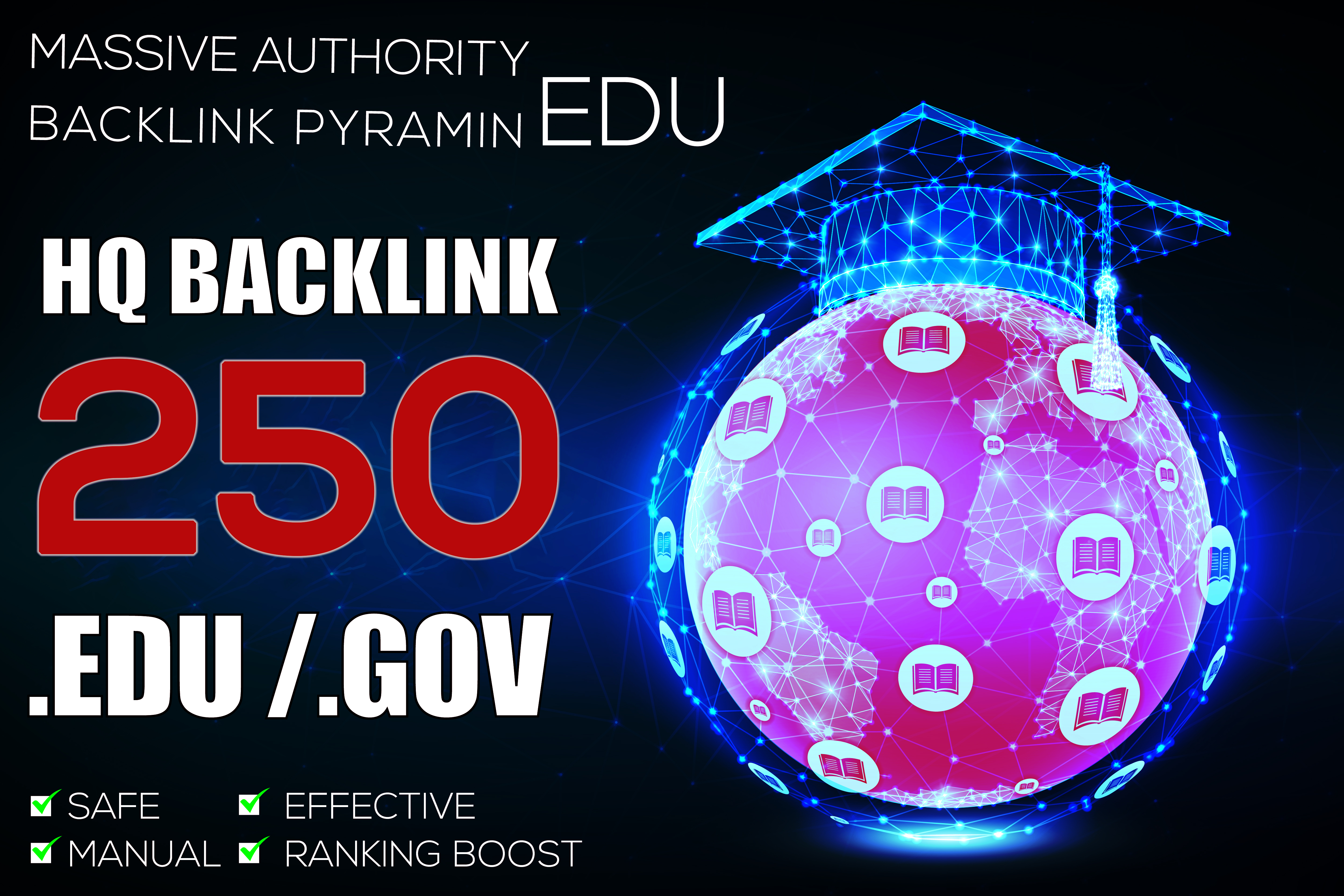 250 EDU Massive Authority Backlinks With Boost in Google 1st Page