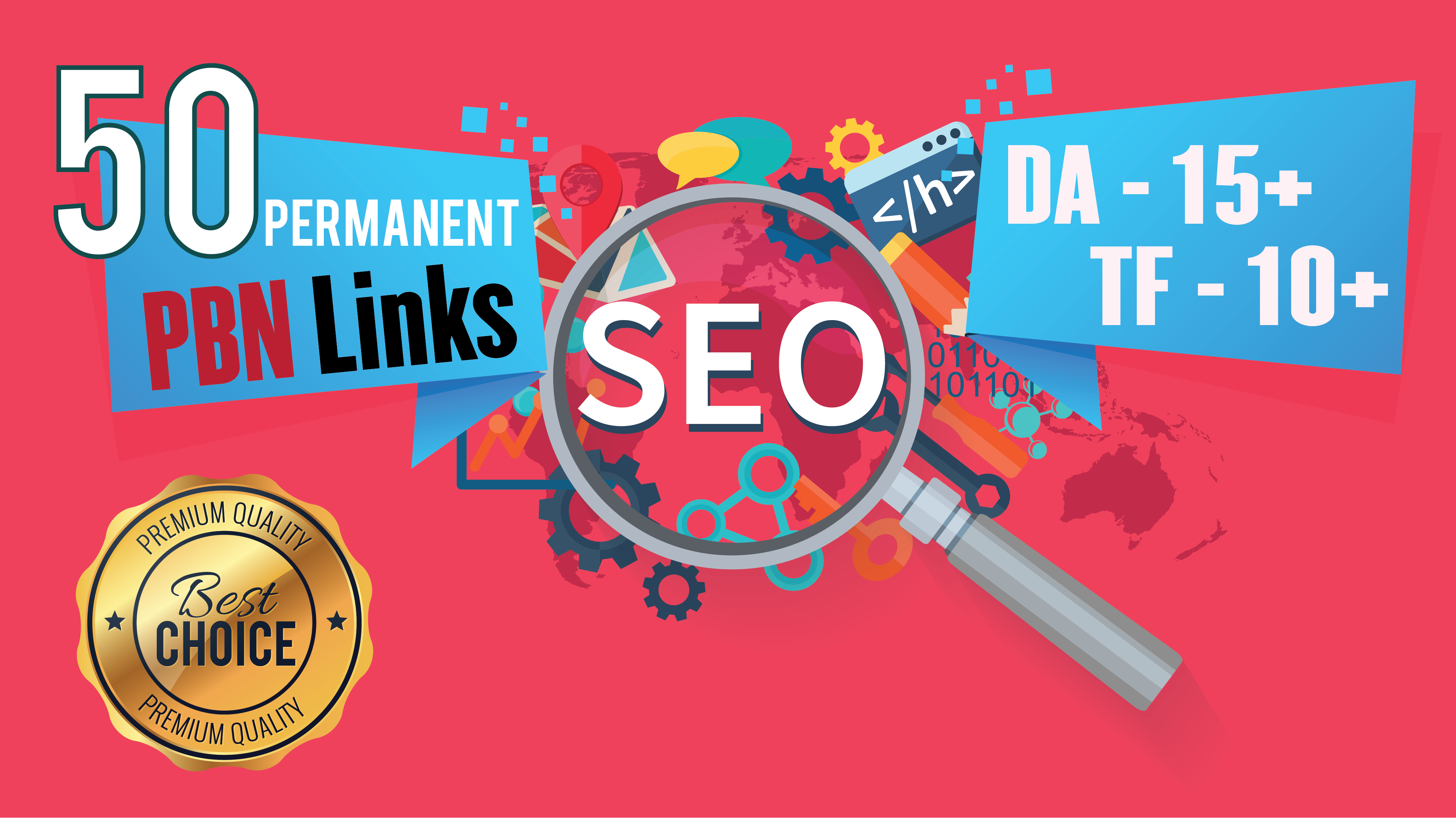Permanent 50 Homepage High Metrics DA PA TF CF Do-follow PBN Backlinks