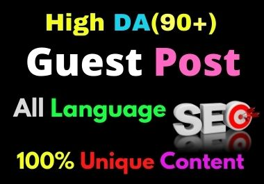 Write and Publish 12 Guest Post High Authority DA 90+ Unique Content Natural Contextual Backlinks