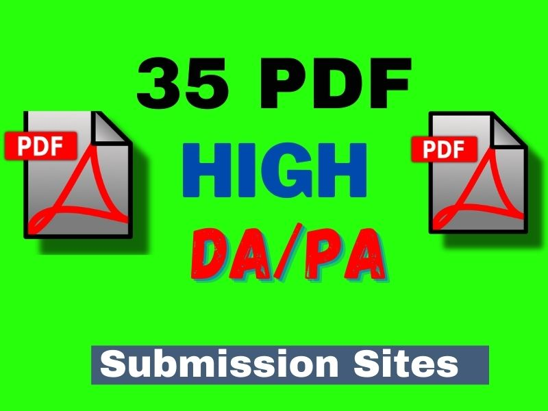 35 Best PDF submission Backlinks Service