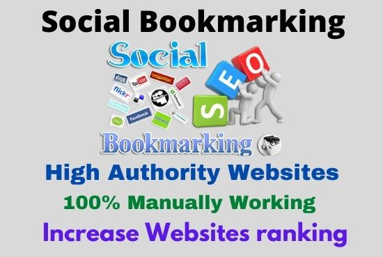 I will Manually 60 Social Bookmarking Backlinks For your website ranking
