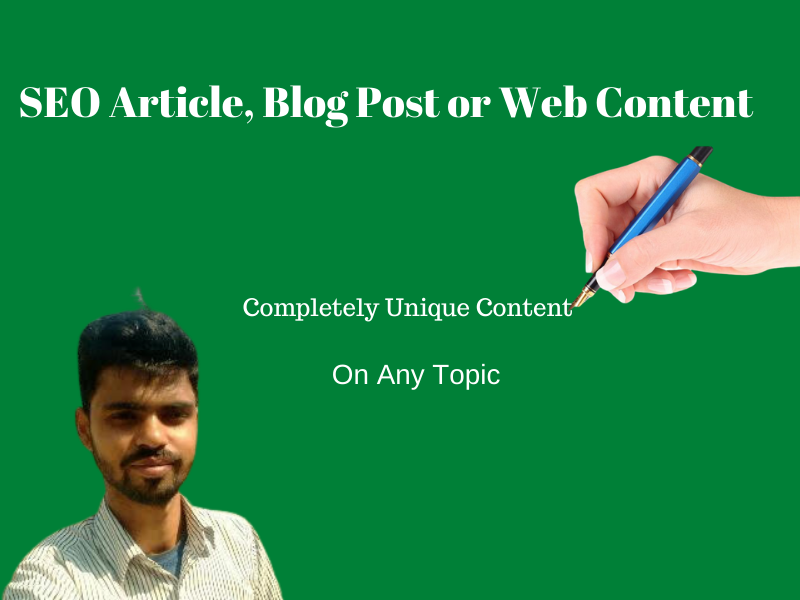 I will write SEO friendly article,  blog post or web content on any topic