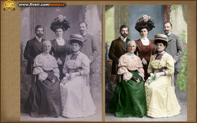I will realistically colorize your black and white image