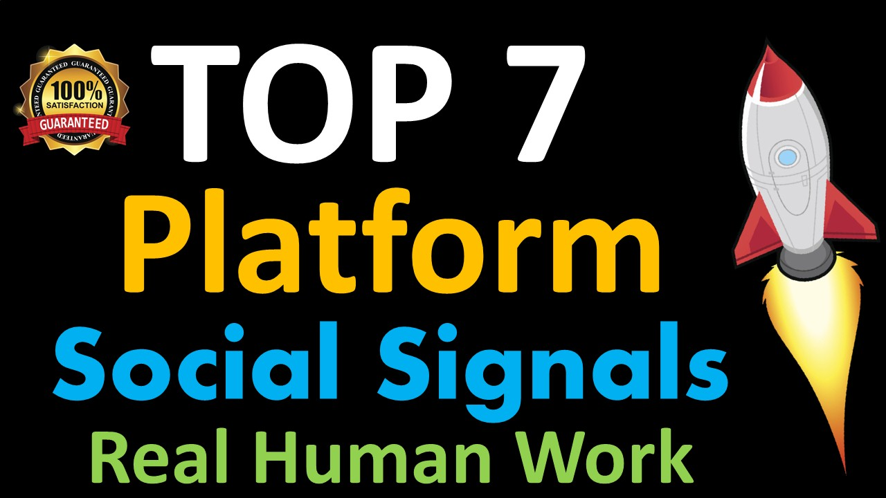 Mega Powerful 40,000 Social Signals for Top 7 Social Media Sites Get More Traffic to Your Website