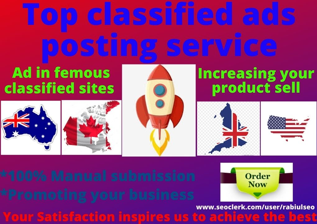 120+ post your ads in high authority classified ads posting site in USA
