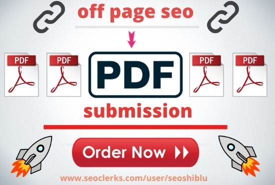 Manually submit 20 pdf or doc to high DA authority sites