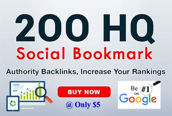 do google ranking by 200 bookmark SEO backlinks