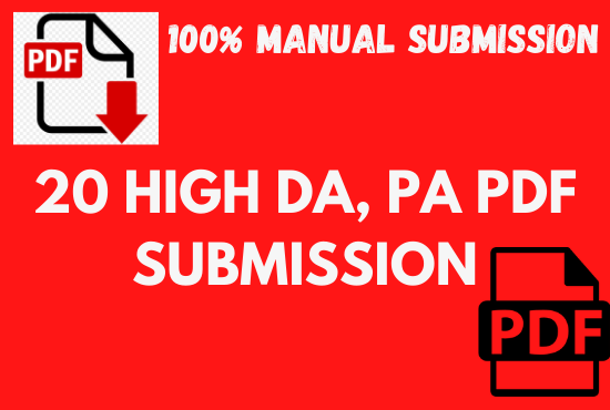 Top 20 PDF Service Manually for Backlinks to Rank in Google by Quality Link Building