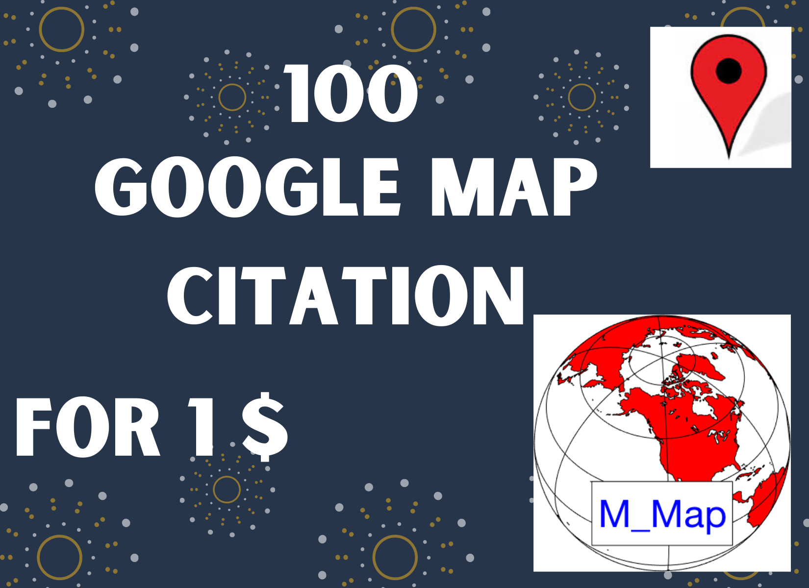 I will do 100 google map citations for local SEO with live link