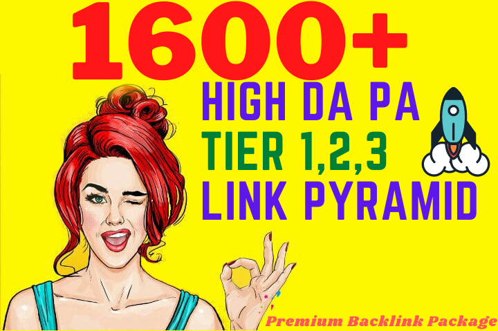 Premium Backlinks Package 1600+High DA PA Authority Diversify Dofollow Tired Backlinks