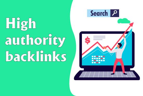 Create 25 High Authority backlinks,  Link Building SEO Service