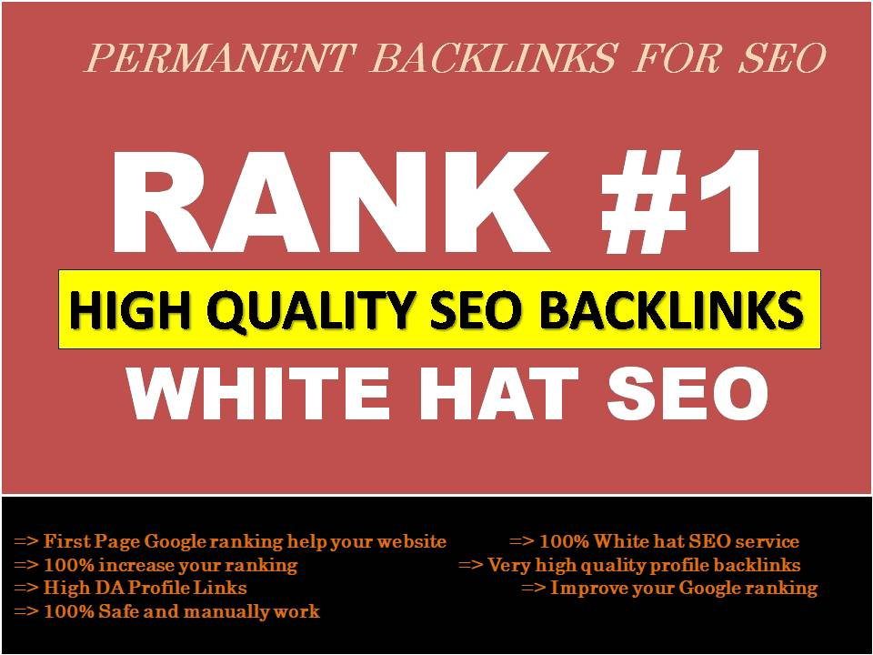 Make authority google ranking with manual high quality SEO backlinks