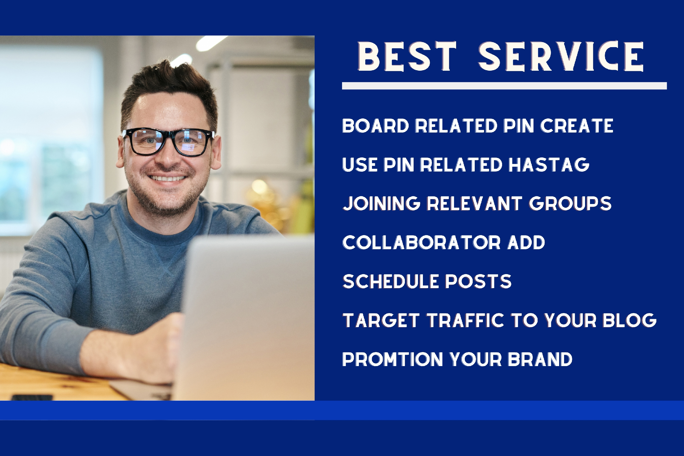 Pinterest marketing manager Promote Your Business & Pin Design