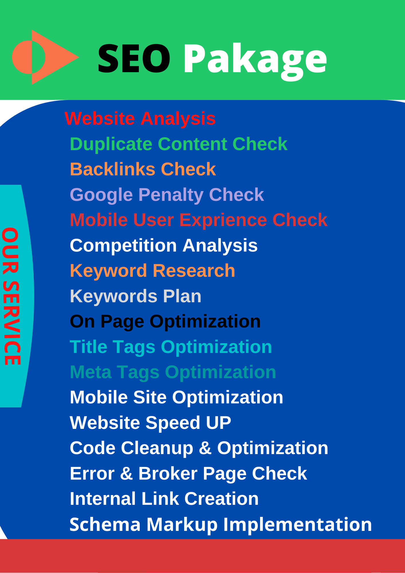 I will Do on page SEO for your word press website 2021