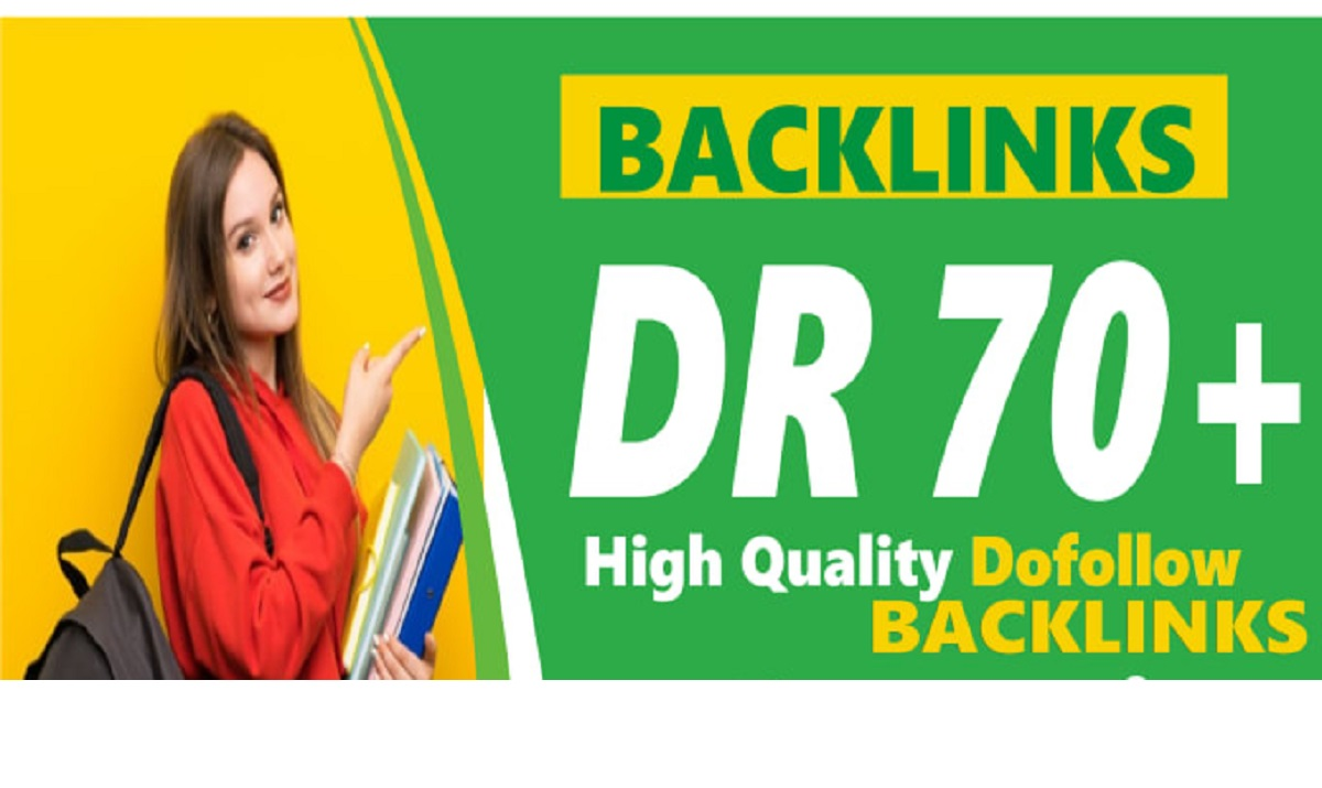 I will provide DR 70+ Permanent dofollow backlinks white hat manual SEO Link Building