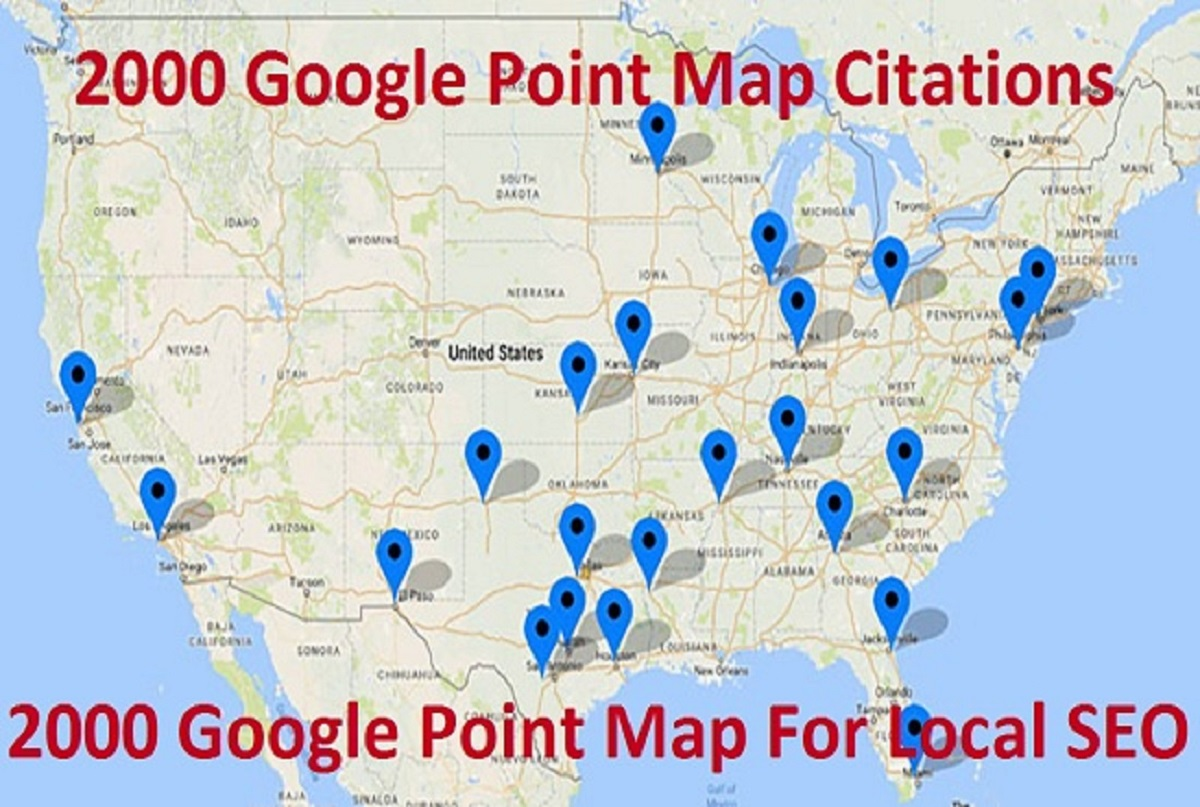 I will do 2000 local google map pins point citations for rank your Business