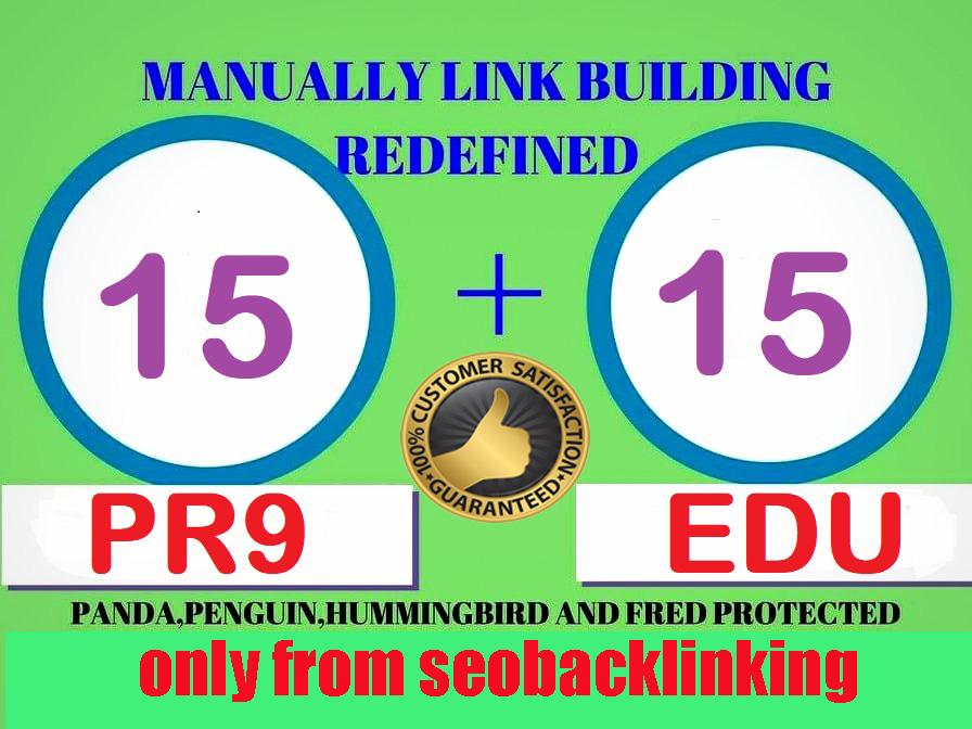 I Will Do 15 PR9 +15 Edu, Gov High Authority Backlinks