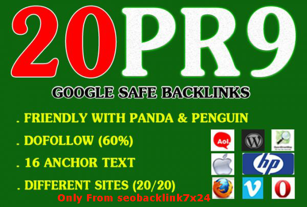 I will build Manually 20+ Excellent PR9 Backliinks 80+ DA High Quality SEO Domain Authority Permanen