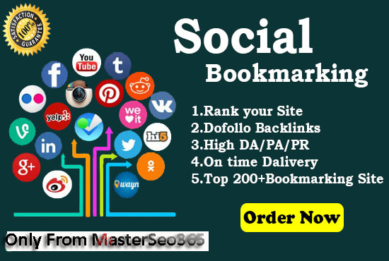 I will backlink your site to 25 social bookmarking site