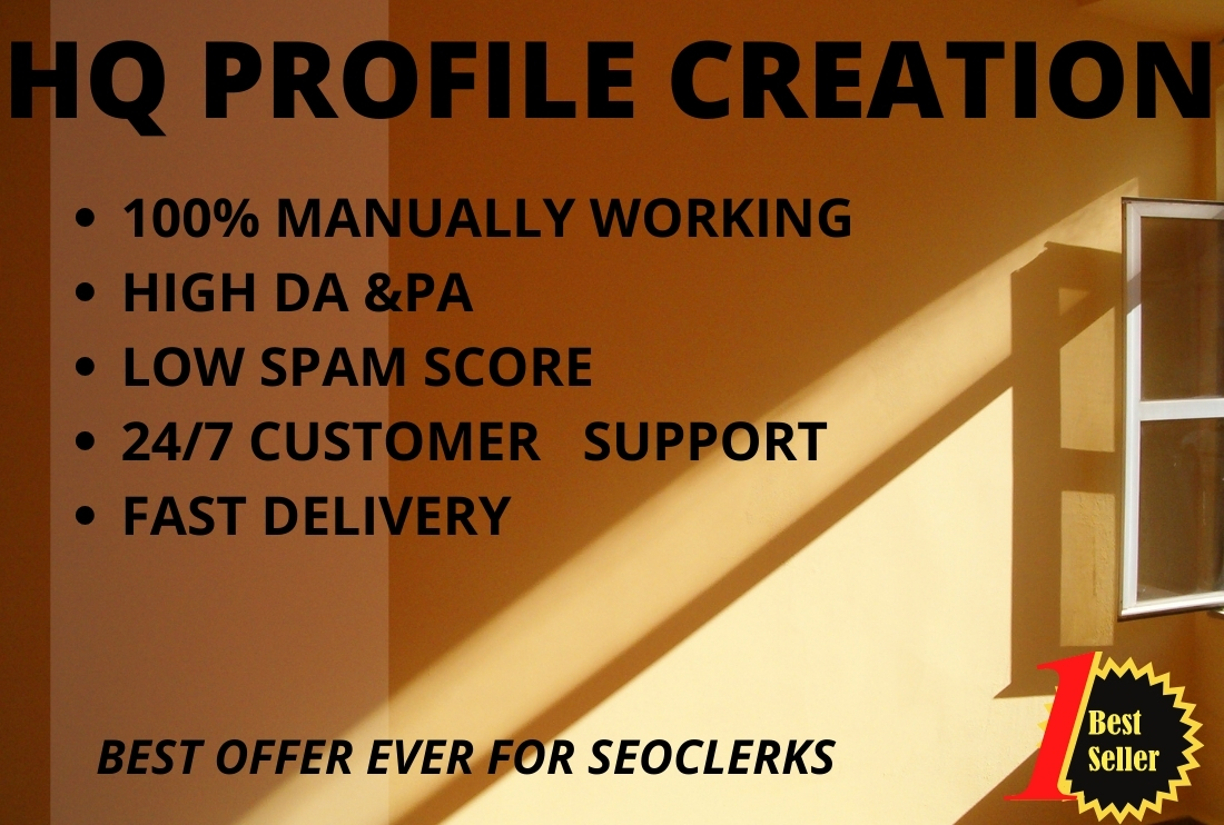 I will create 100 profile backlinks in high authority site