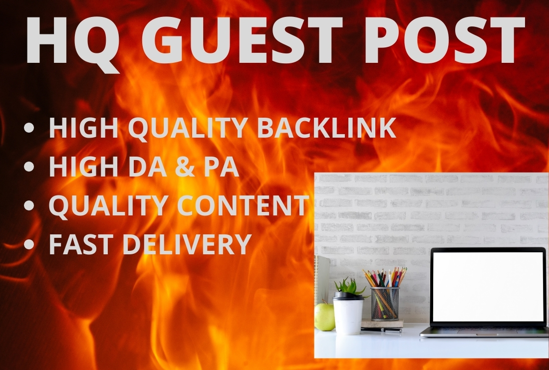 I will write a unique real guest post on a high authority site