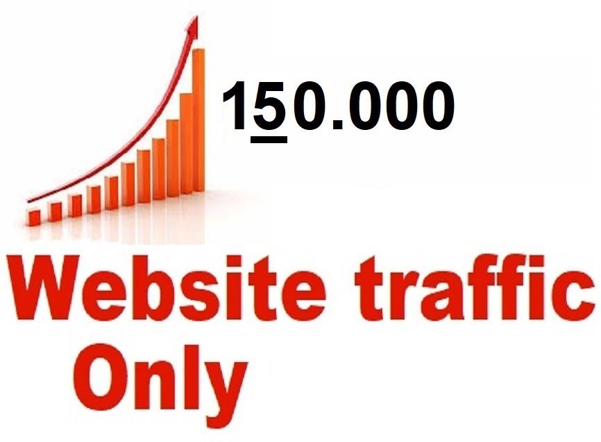 drive 150,000 web traffic,  google visitors instagram,  youtube,  twitter,  linkedin