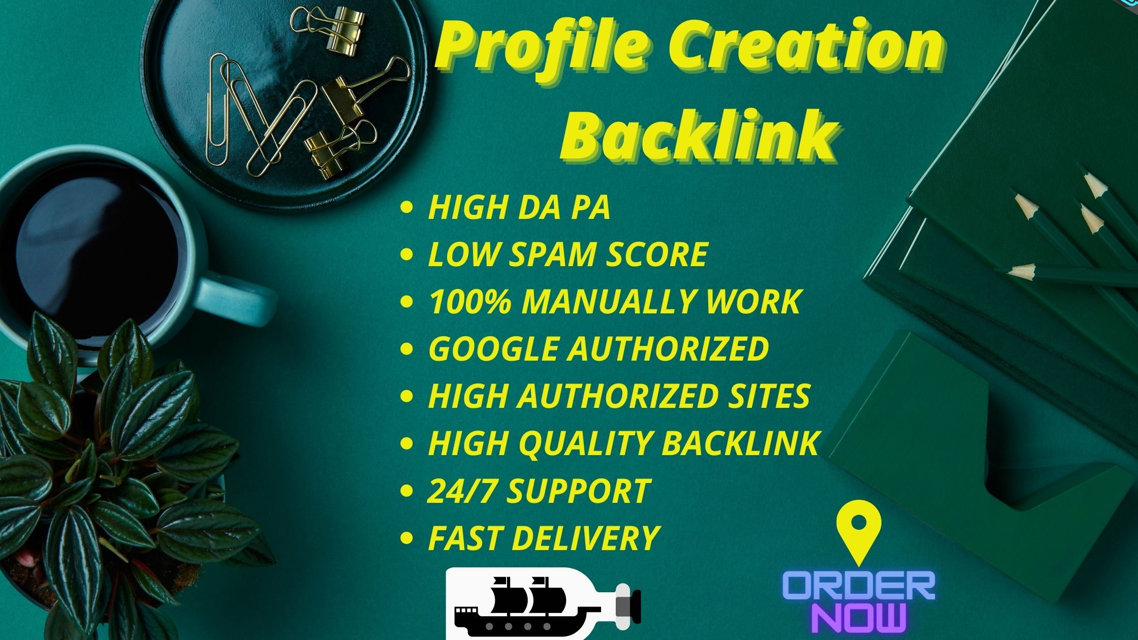 I will manually create 50 profile creation backlinks with high da pa.
