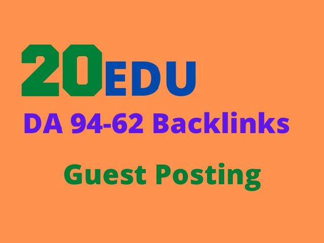 Create 20 EDU high authority Guest Posts permanent Backlinks