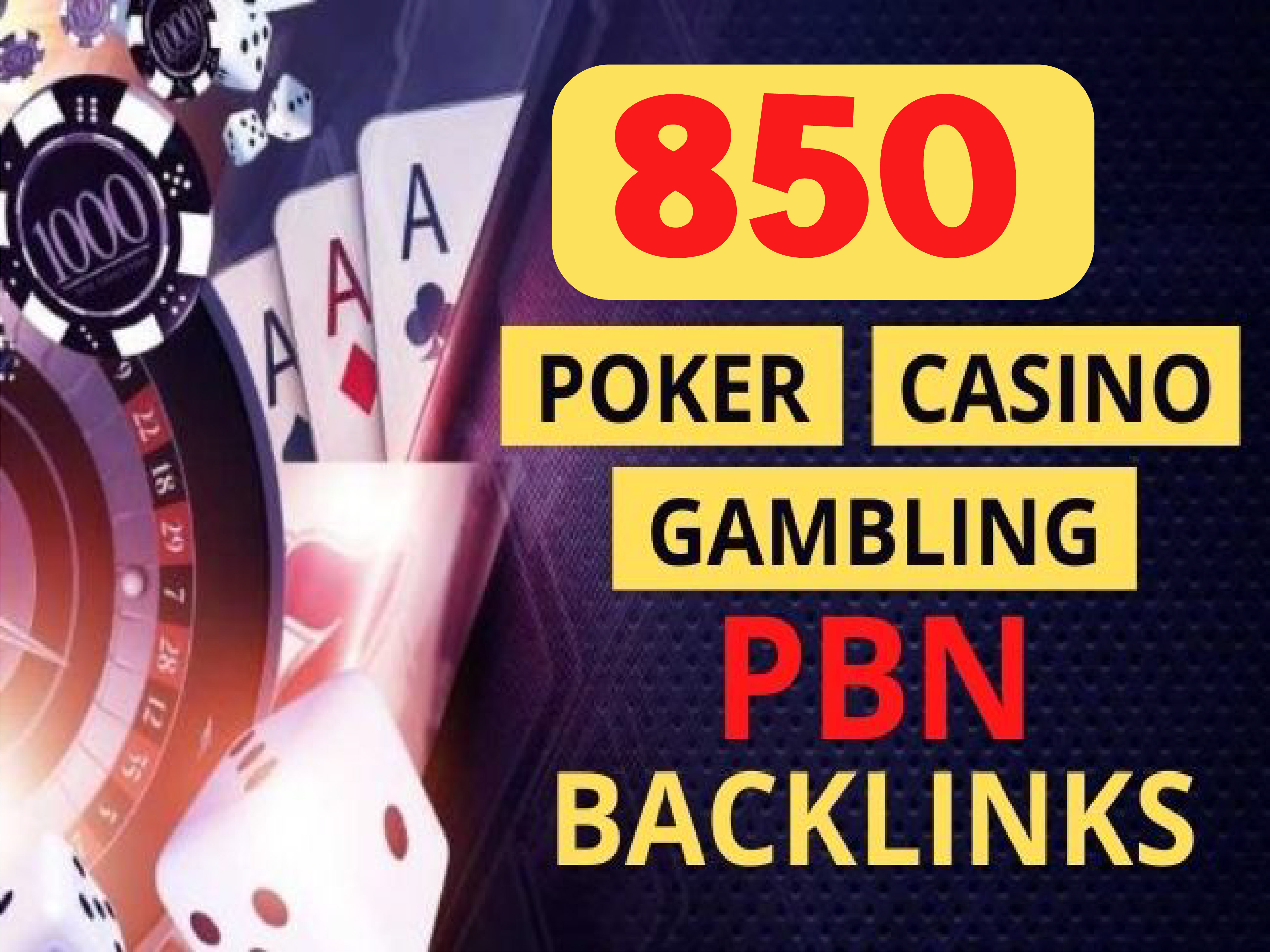 Create Strong Judi Bola,  Casino,  Poker,  Gambling,  850 PBN Homepage With 300 2nd Tiers Backlinks