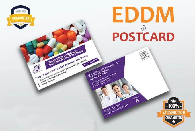 I will design postcard and direct mail eddm postcard design