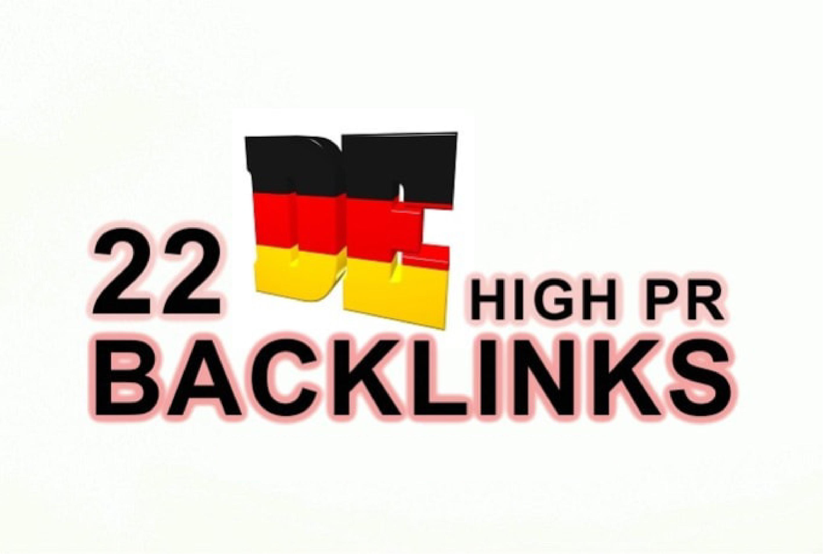 I will build 22 germane high pr backlinks