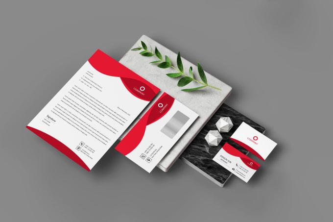 I will design professional logo business card letterhead stationery corporate identity