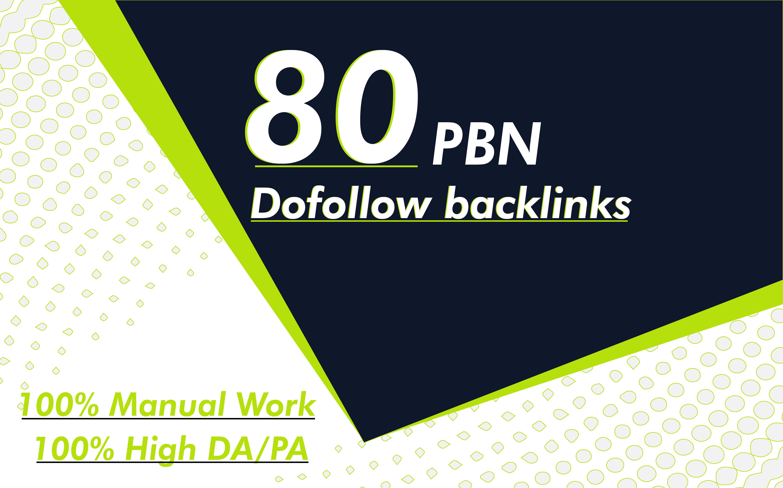 I will provide 80 doffolow nofollow backlinks