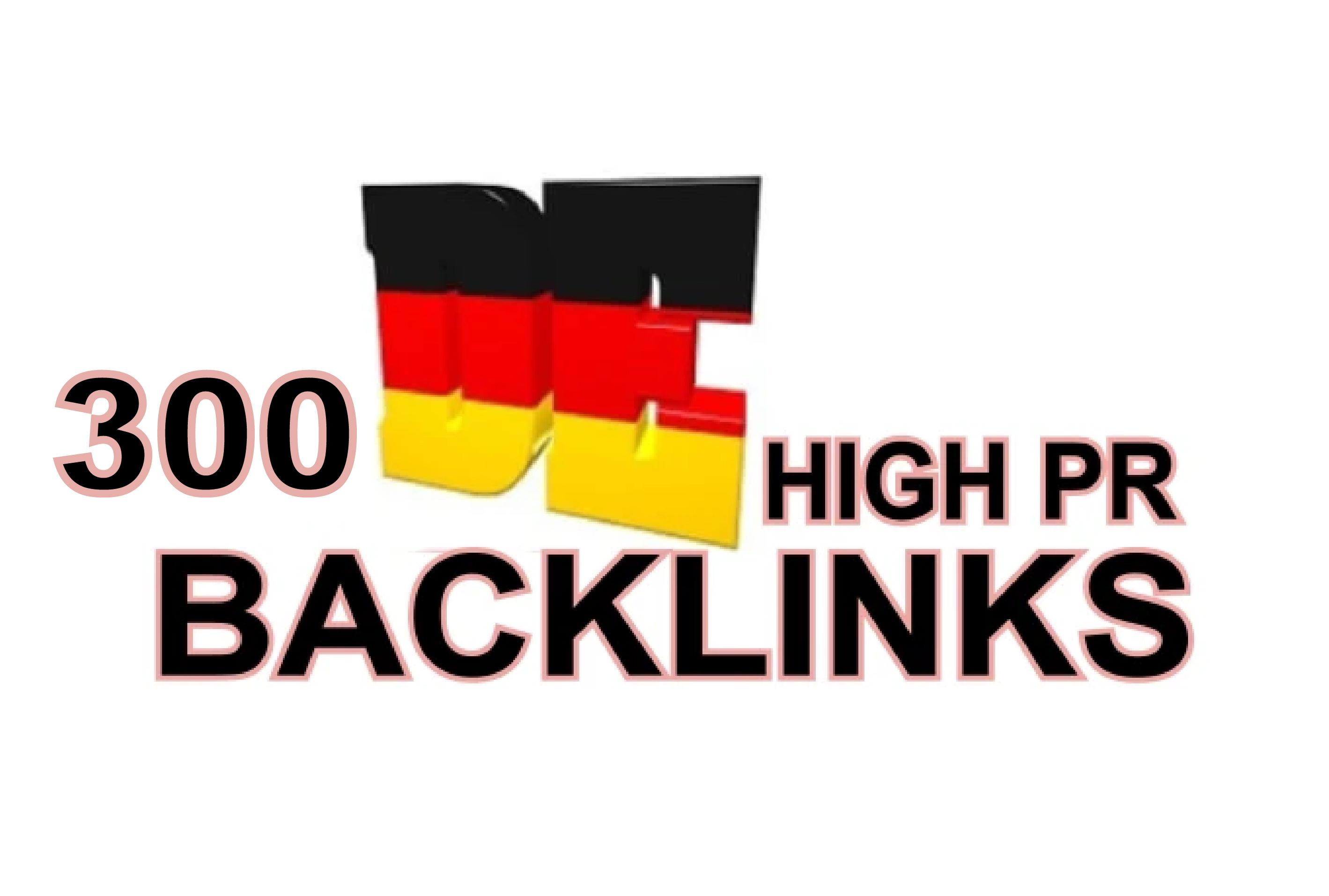 I will create 300 high pr German backlinks
