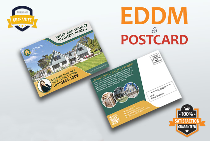I will design postcard and direct mail eddm postcard design