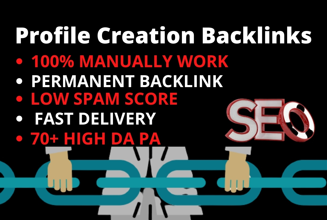 Manually high quality 35 profile creation backlinks