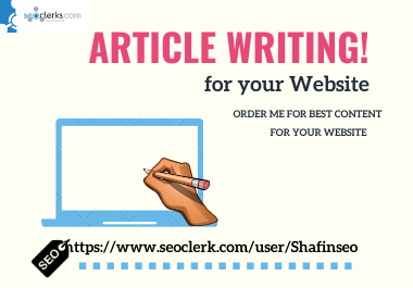 I will write 1000 words unique SEO article, blog, content writing for your niche