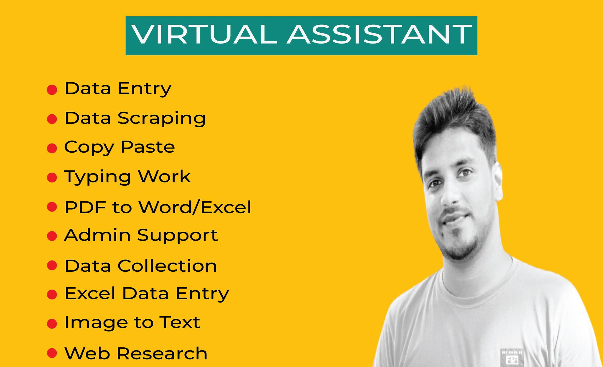 do any virtual assistant,  copy paste and data entry job