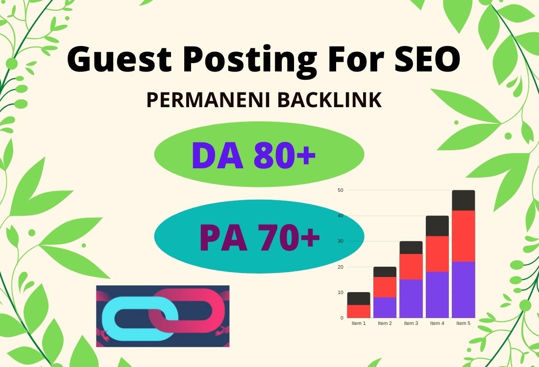 I will guest posting for SEO permanent backlink high da guest posts high authority link building