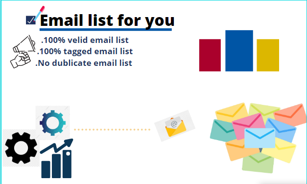 I will provide you active worldwide based email list and sales emails for your business