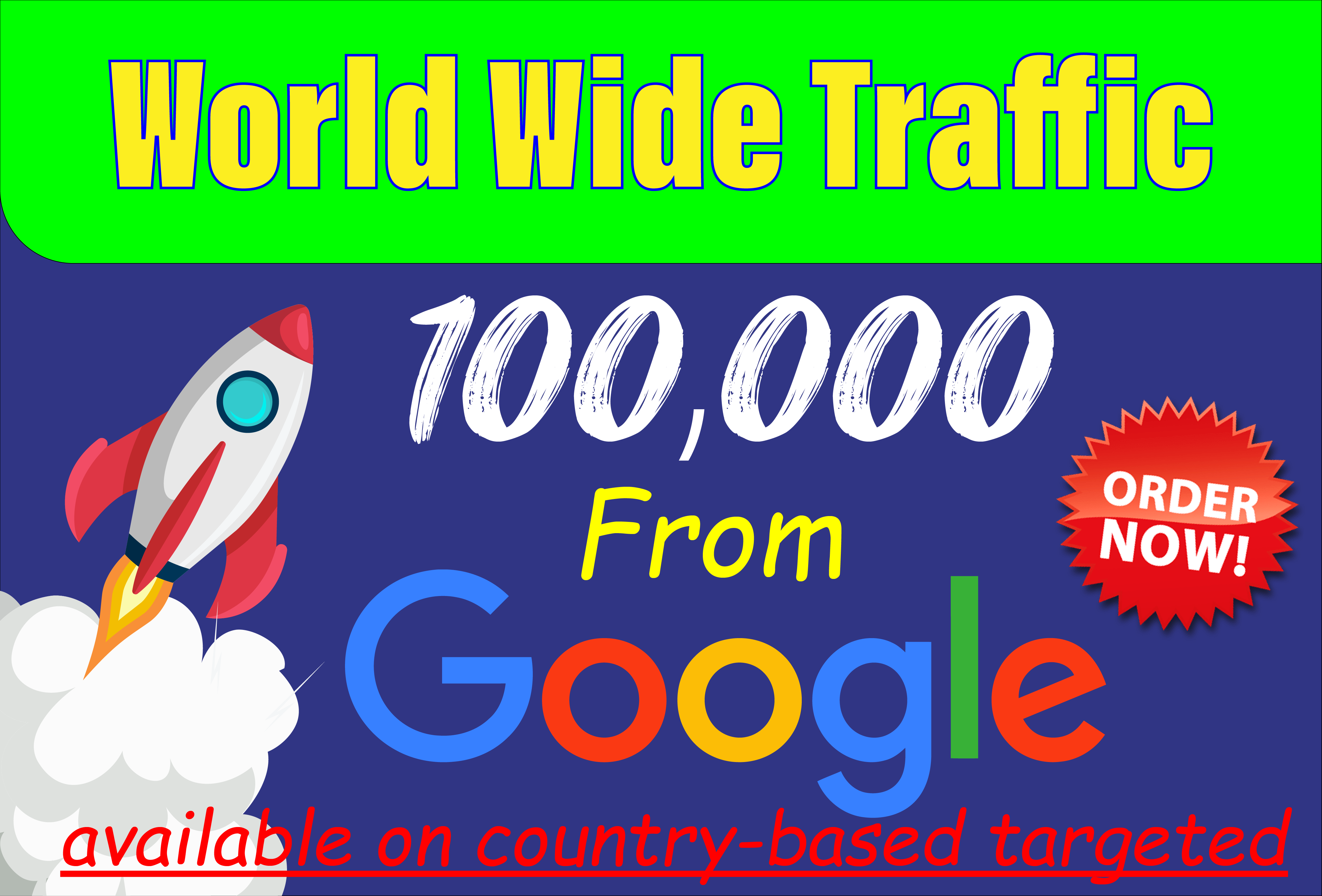 Boost High-quality Google website traffic to grow up your business
