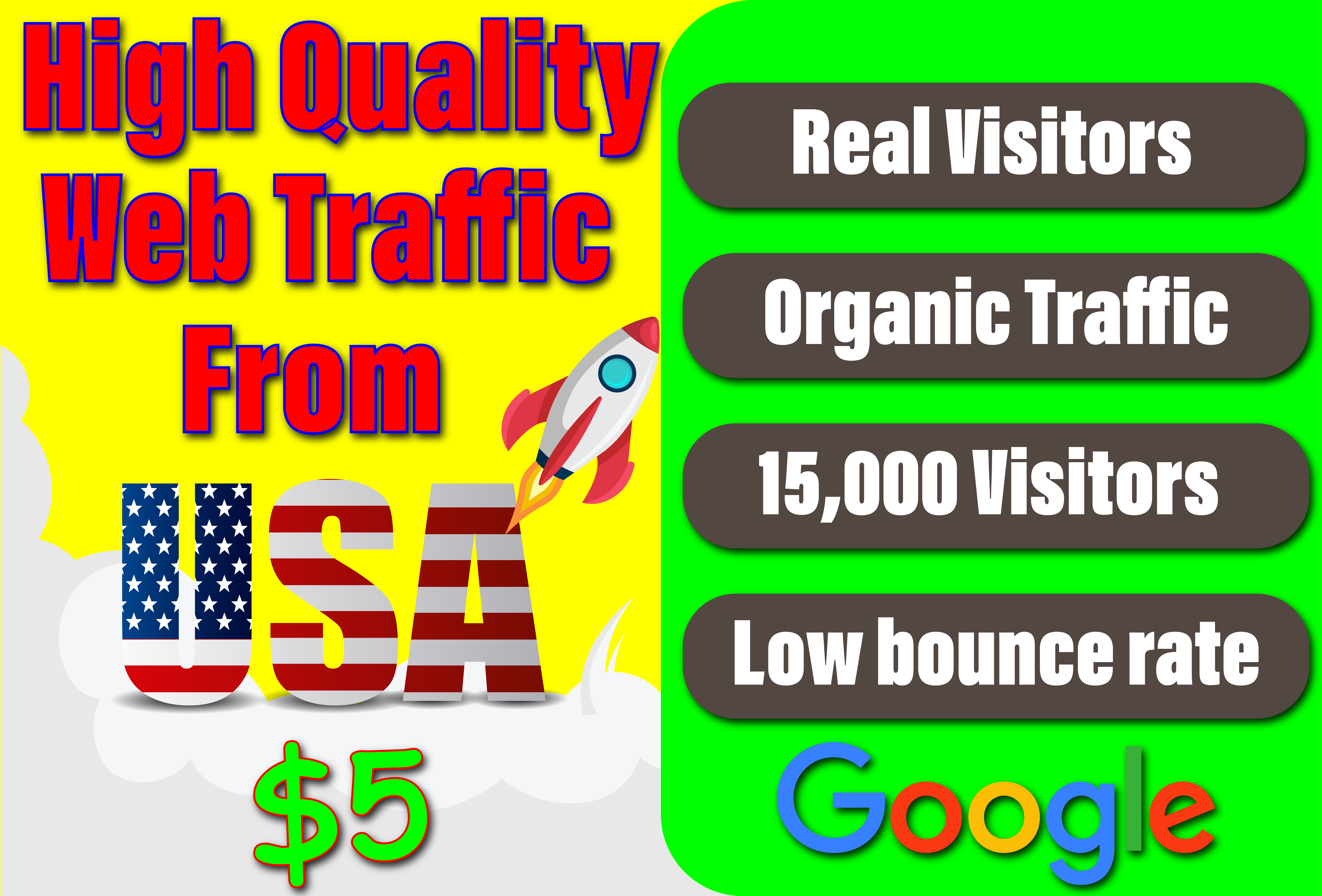 I'll drive niche targeted,  real organic traffic from USA