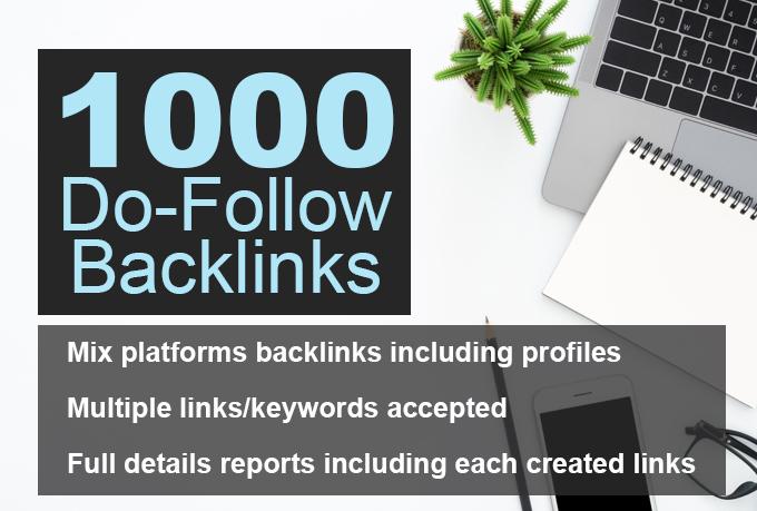 1000 do follow backlink Ranking website seo backlinks
