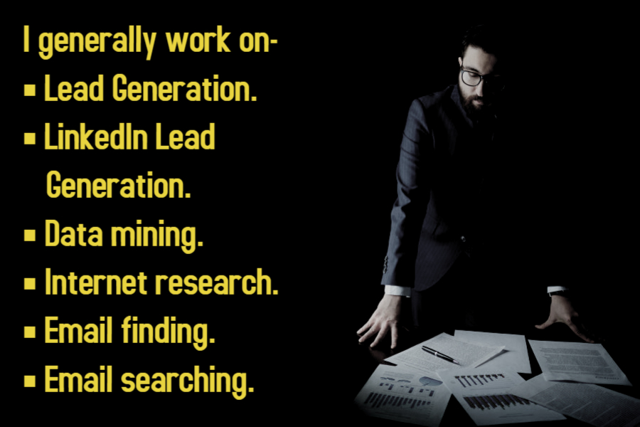 I will do b2b Lead Generation and Web Research Professionally for your Business