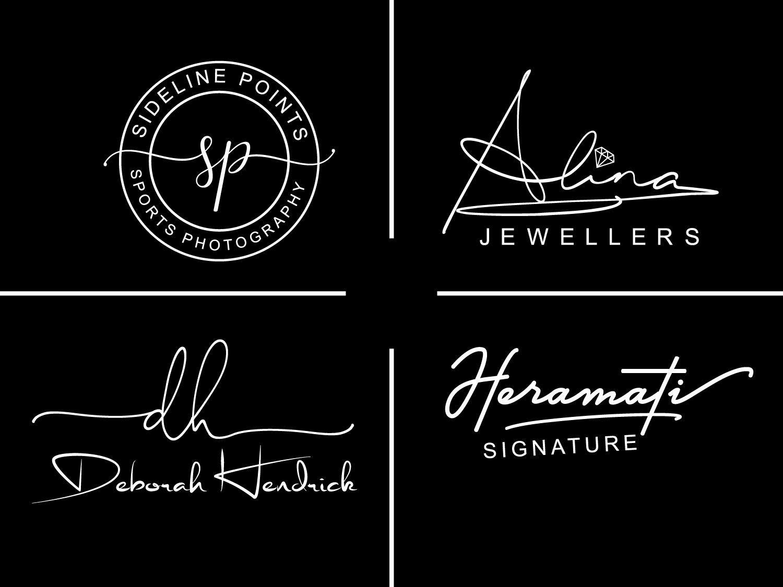 I will Do Luxury Signature logo For fashion Boutique Cosmetics