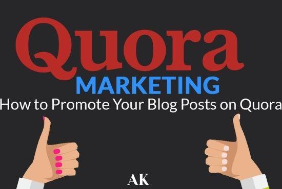 Promote website Quora 2 Backlink