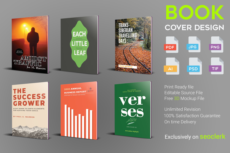 I will design professional book cover design or kindle book cover design