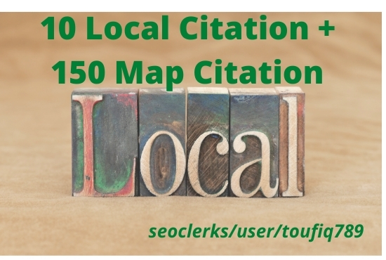 create 10 local listing and 100 google map citation for local SEO