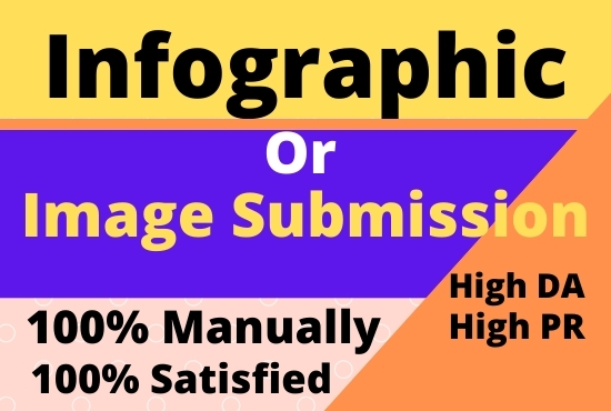 I will 20 Manually Infographic or image Submission On High Images Sharing Sites
